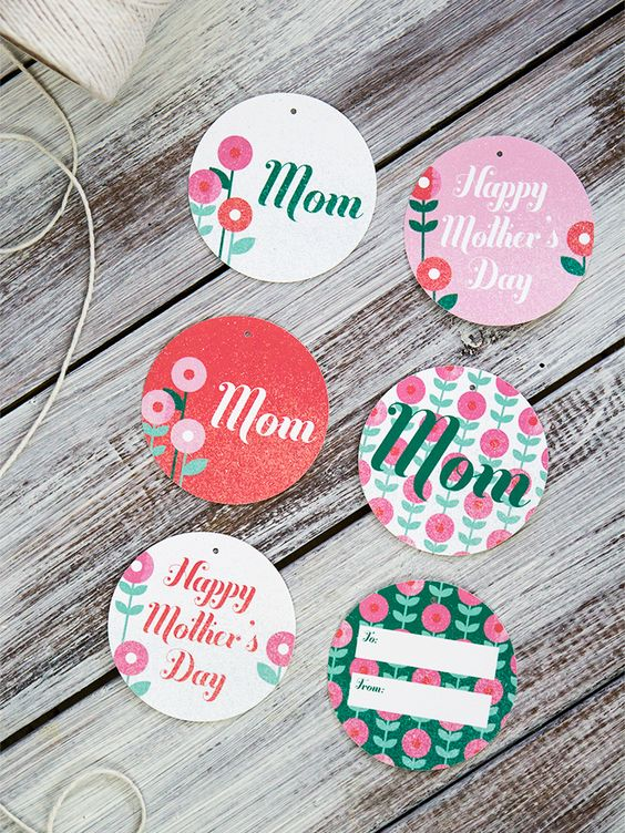 free mother s day printable gift tags meaningful gifts for her. Black Bedroom Furniture Sets. Home Design Ideas