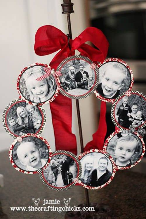 Pinterest worthy easy homemade christmas gifts for women easy photo wreath solutioingenieria Choice Image