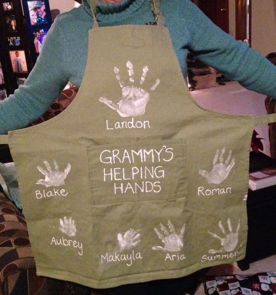 Homemade Christmas Gifts For Grandpa: Homemade Handprint Gifts For Grandma