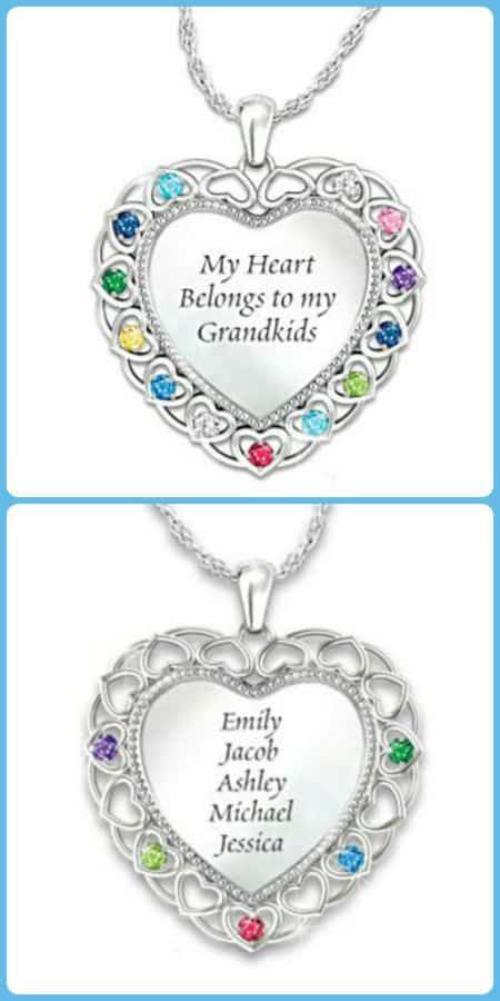 My Heart Belongs to My Grandkids Necklace