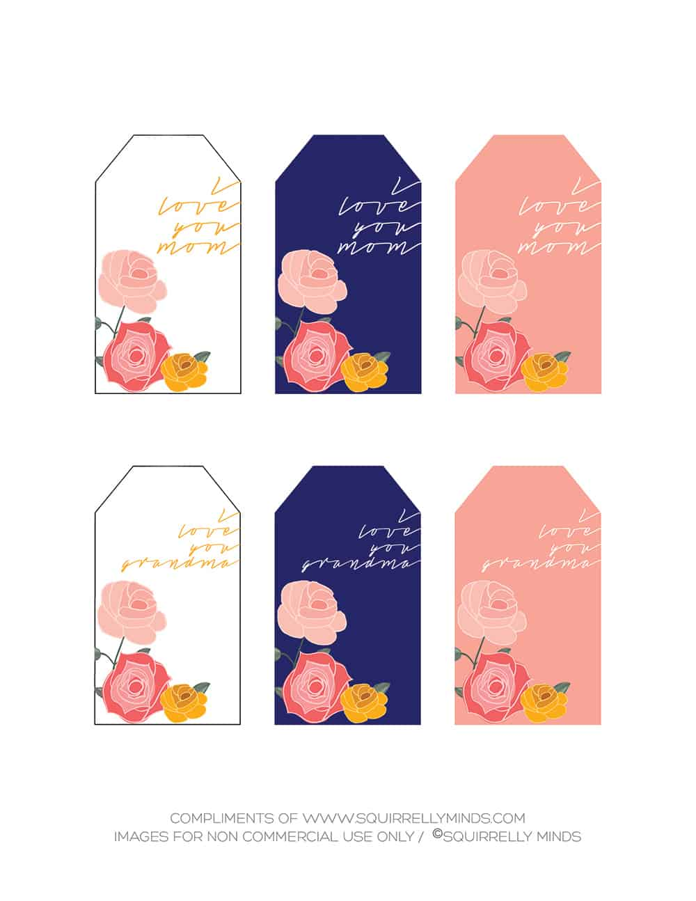 Free Mother's Day Printable Gift Tags - Meaningful Gifts for Her